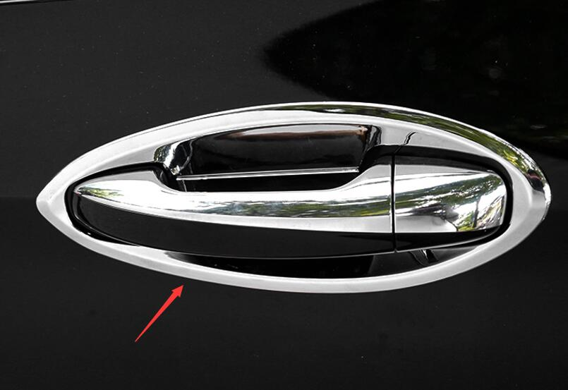 Chrome side Door Handle Bowl Cover Trim 4pcs for Mercedes Benz E Class W213 2016 2017