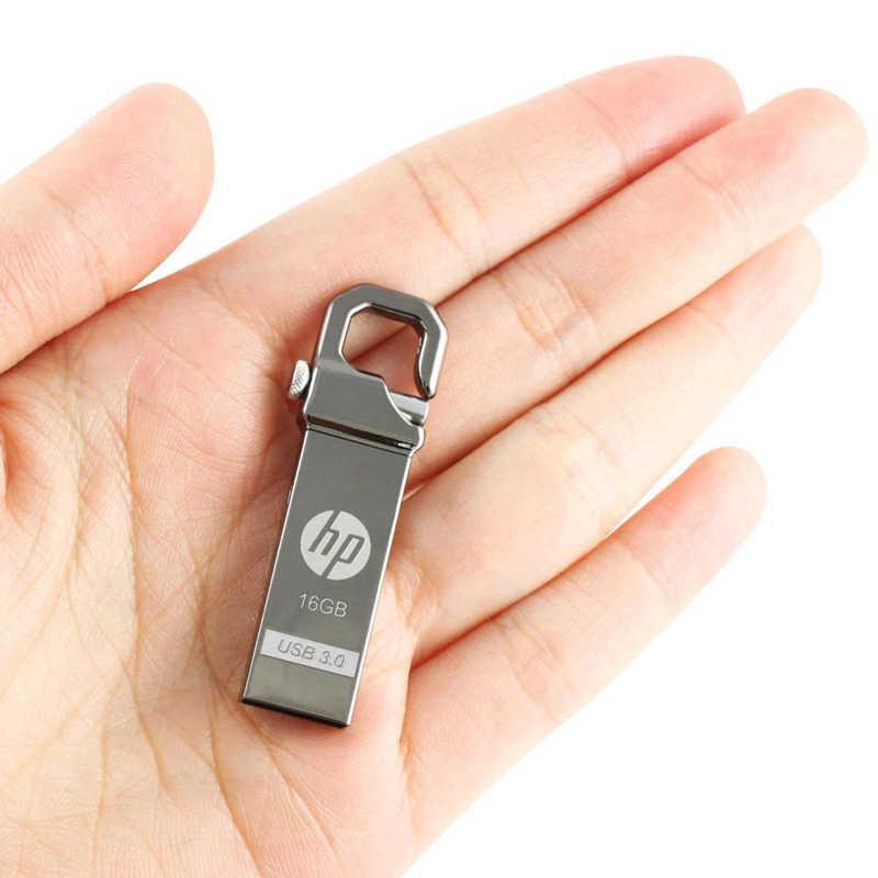 HP المعادن محرك فلاش usb 32 GB 64 GB DIY بندريف X750W Cle USB 3.0 الذاكرة عصا مفتاح الإبهام قفل خطافي Fles القرص على مفتاح Shiping مجانا