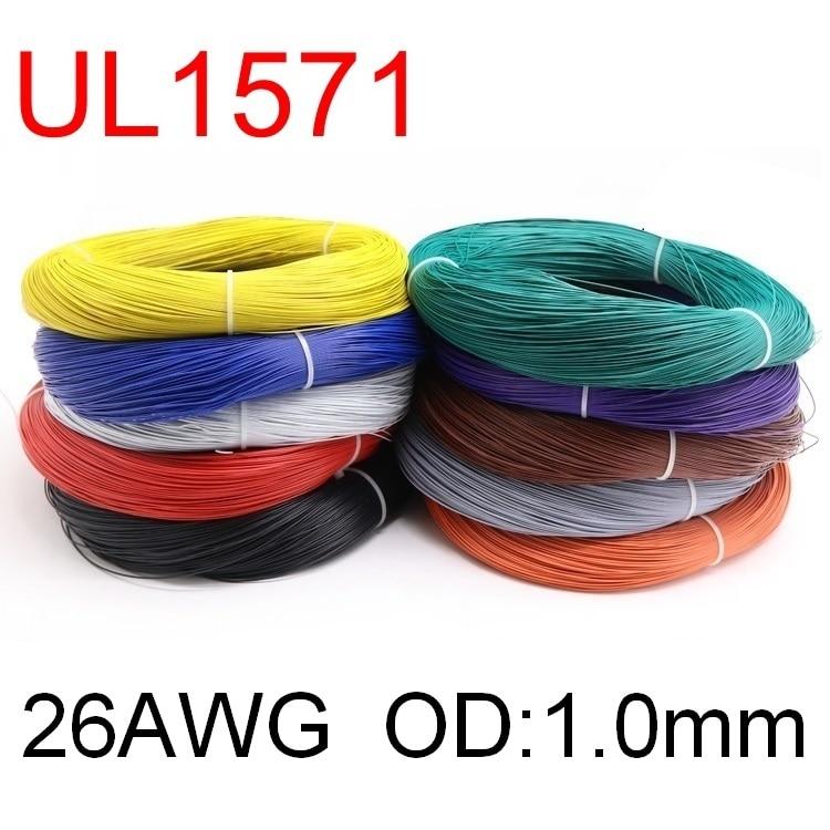 5 м UL1571 26AWG ПВХ электронный провод OD 1 мм гибкий кабель изолированный оловянный медный экологический светодиодный провод DIY цветной шнур