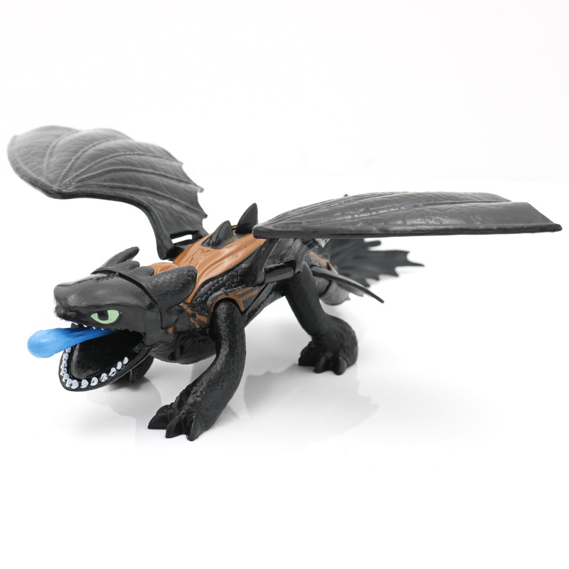 23cm How to Train Your Dragon Toothless Action figure Light Fury Toothless Toys For Children's Birthday Gifts