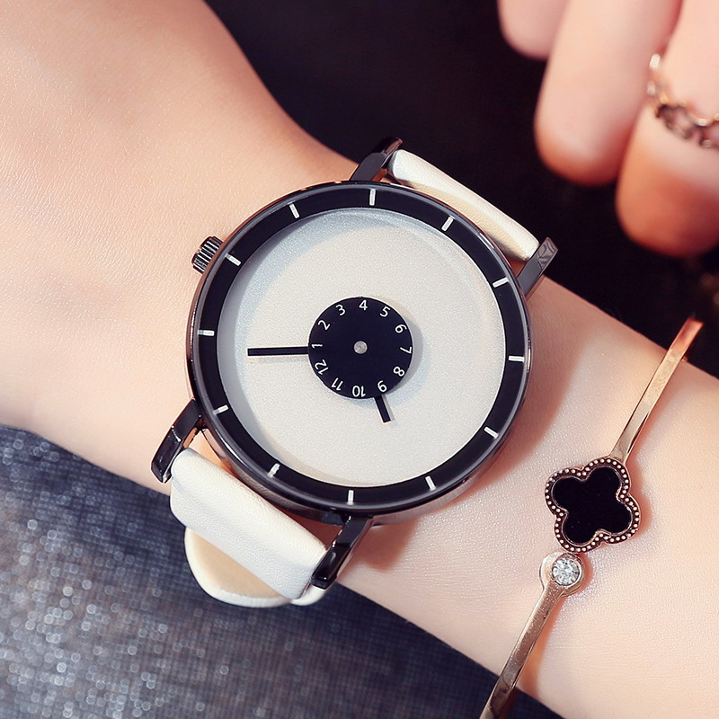 Prix pour Élégant Platine Creative Montre En Cuir Casual Femmes Montres Quartz Horloge Femelle Amant Sport Montre-Bracelet Relogio Feminino Montre