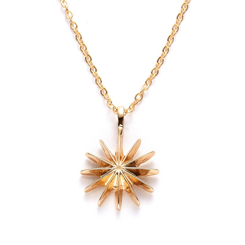 Fashion Tiny Dainty Flower Heart Pendant Necklace Wish Card Gold Charm Necklace Jewelry For Women Accessories Girlfriend Gifts