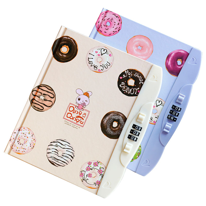 Creative Kawaii Notebook With Lock Code Personal Diary Memo Agenda Planner Private Secret Book Gift Stationery School Supplies rights of the game notebook gift diary note book agenda planner material escolar caderno office stationery supplies gt105