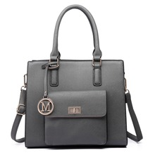 Fashion women girl Handbag  high quality faux leather Front Pocket Tote Bag Handbags Top Magnet Button closure crossbody bags