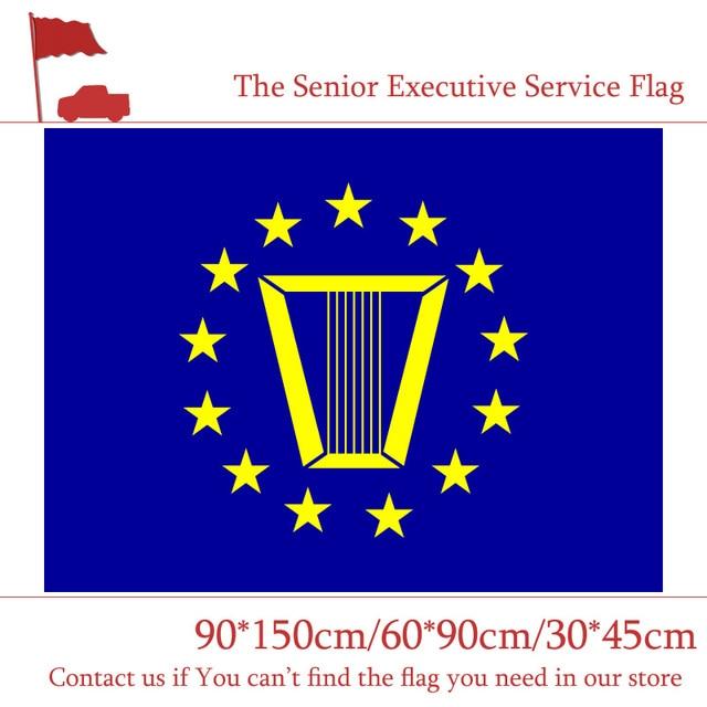 Drapeau du Service des cadres supérieurs | Bannière à impression numérique américaine 3x5ft, drapeau de voiture 30*45cm, 60*90cm 90x150cm