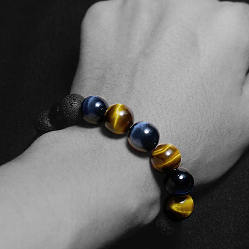 Пара браслет/шарм/браслет для мужчин 8 мм бусины натуральный камень тигровый глаз браслеты ручной работы на заказ мужские браслеты 2019 Ювелирные изделия Подарки
