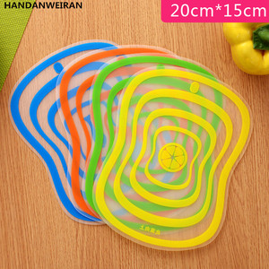 1PIECES Plastic Chopping Block Non-slip Frosted Anti-bacteria Cutting Board Vegetable Meat Essential kitchen Tools S(China)