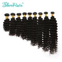 Slove Rosa Brasilianische Tiefe Welle 100% Menschliches Remy Haarverlängerungen Doppelschuss Haarwebart Bundles Natürliche Farben-freies Verschiffen
