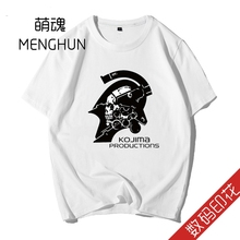 Kojima Productions Death stranding Ludens t shirts game fans digital printing men white cotton ad04