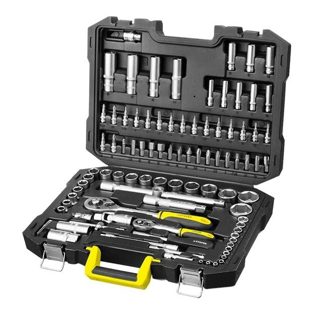 Hand tool set STAYER 27760-H94 (Number of items in set 94 pieces bits, end caps, free shipping) цена в Москве и Питере