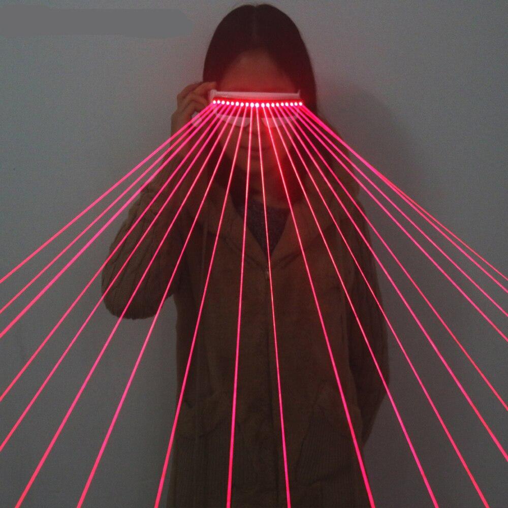 650nm vermelho laser óculos/óculos luminescentes/18 pces fluxo de laser de pessoas necessário estágio piscando óculos