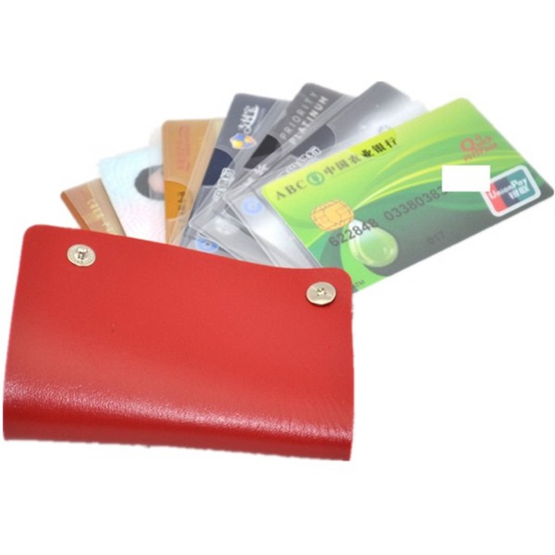 Multifunction Rotary Credit Card Holders Card Bag PU Cover Business ...