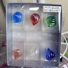 A set of 12, Munuola art glass sculpture decoration style conch marine aquarium decorative accessories