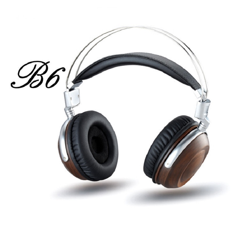 ФОТО Headphones BOSSHiFi B6 HiFi Music DJ Wooden Metal Headphone High-End Earphone Noise Isolating Alloy Headset 50mm Unit Bass 2017
