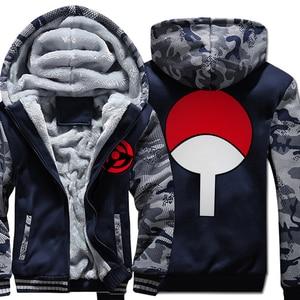 Image 5 - Sudaderas con capucha de Naruto Uchiha Syaringan para hombre, chaquetas con capucha con estampado de dibujos animados de ninja, abrigos gruesos, M 5XL, novedad de 2019