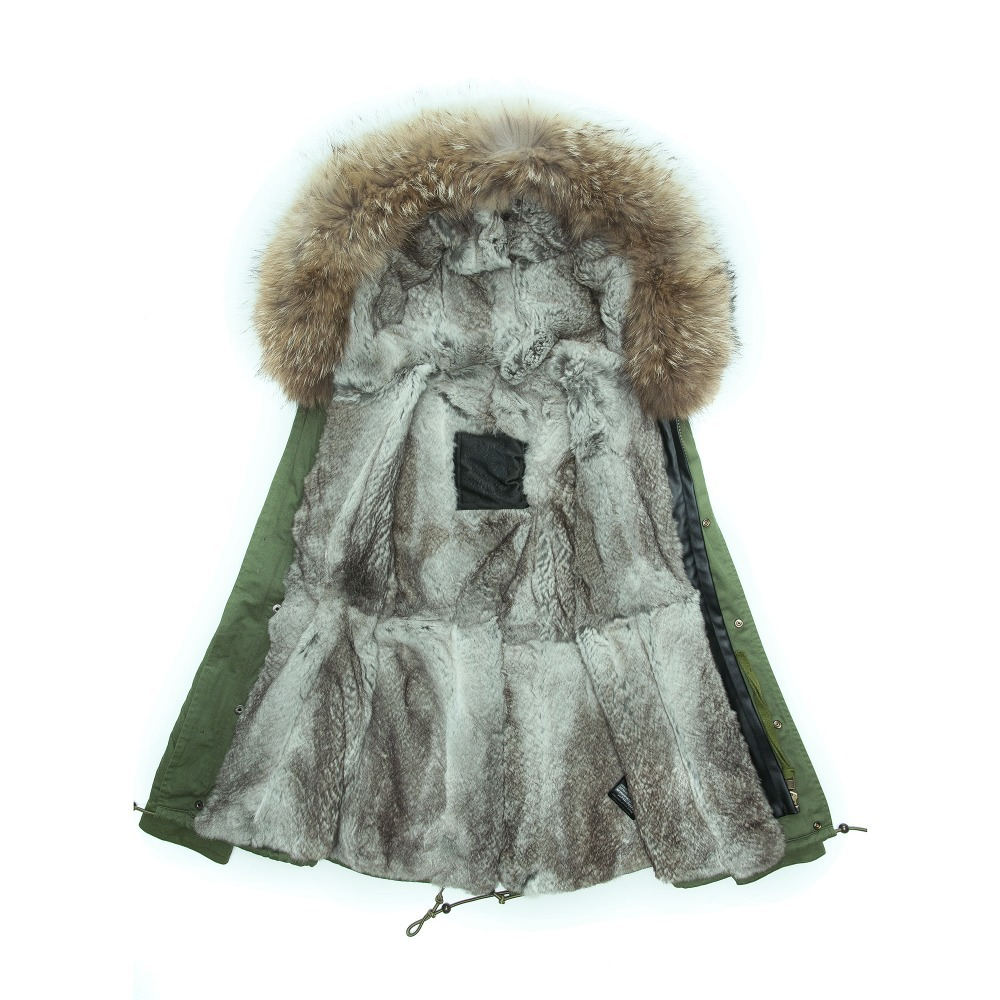 Aliexpress.com : Buy Fashion parka with fur lined real rex rabbit ...