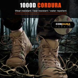 Image 4 - 무료 군인 야외 스포츠 전술 군사 남성 신발 캠핑, 하이킹 등산 신발 경량 트레킹