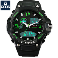 OTS Luxury Brand Mens Sports Watches Waterproof Digital LED Military Watch Men Fashion Casual Electronics Wristwatches