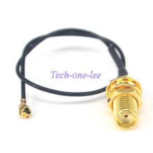 5 unids/lote Mini PCI U FL a SMA conector antena WiFi Cable Pigtail IPX a SMA extensión(China)
