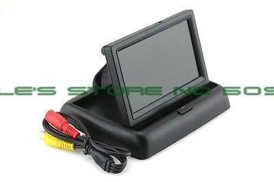 "4.3 ""monitor de la pantalla Plegable Digital TFT LCD de Coches Retrovisor Monitor de Cámara Negro Doblado"