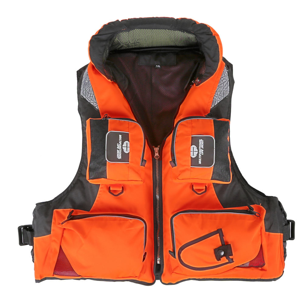 Adult polyester swimming life jacket professional life for Best inflatable life vest for fishing