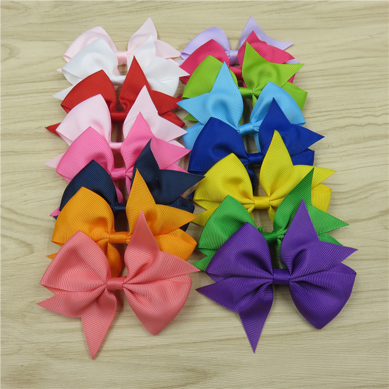 1PCS Solid Colorful Elastic Hair Bands Girls Ribbon Bows Girls Hair Ring Tie Rope Hair Accessories Swallowtail Best Holiday Gift