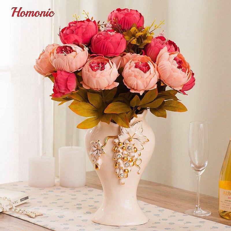 Kunstliche Kunstliche Blumen Pfingstrose Seide Pfingstrose Blumen