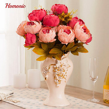 Artificial Peony Silk Flowers Bouquet for Wedding Party Bouquet Decoration P50