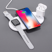 3 in 1 Qi Wireless Charger Plate For iPhone X XR XS Max 8 Plus Apple Watch Airpods Fast Charging Mat For Samsung Note9 S9+ Plus