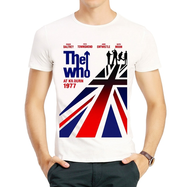 The Who T-Shirt Male Fashion Band Short Sleeve White Color The Who Band T Shirt Top Tees tshirt The Who Logo T-shirt Unisex