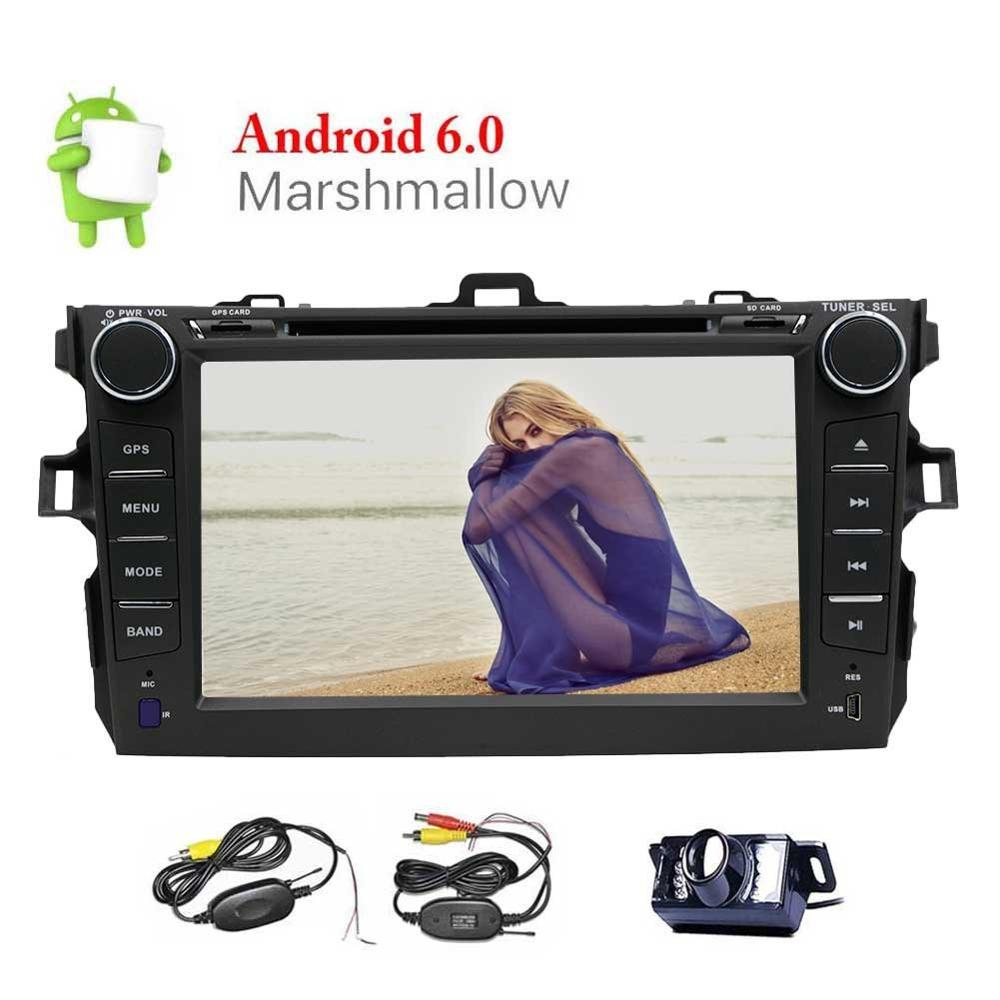 Android 6.0 Car DVD Player 7 Car DVD Player for Toyata Corolla 2 Din GPS Navigation Head Unit SupportWiFi/OBD2/FM Radio+Camera