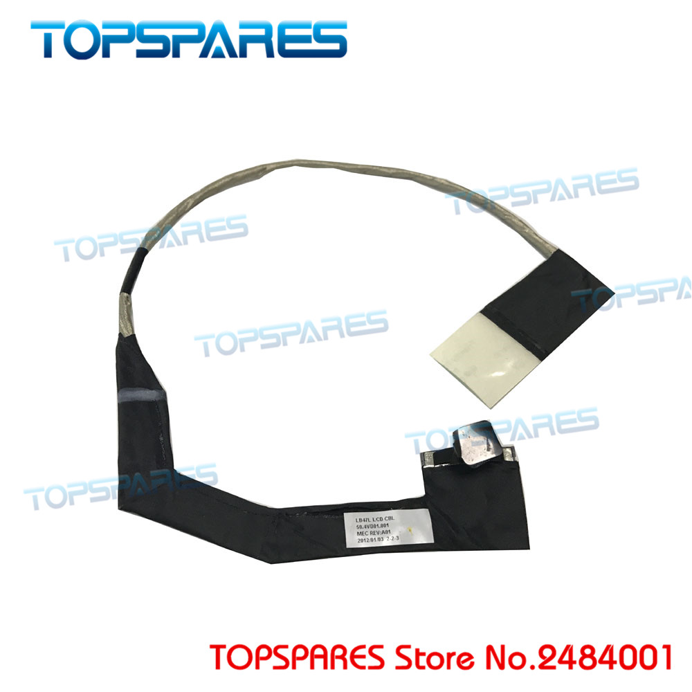 Laptop NEW LCD LED Cable FOR Lenovo B470 B470e B475e LB47 LVDS Video Flex DISPLAY CABLE P/N 50.4VD01.001 storage cable