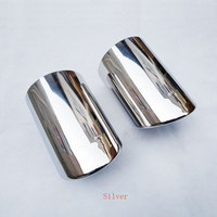 for Audi Q7 4l 2006 2007 2008 2009 2010 2011 2013 Muffler Stainless Steel Exhaust Tip Muffler Pipe Car Styling Accessories 2 Pcs