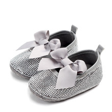 Brand New Silver Rhinestone Baby Girls Dress Shoes
