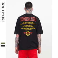 INFLATION 2017 Spring Summer Collection Camo Tee Hip Hop Fashion Mens T Shirt Military Camouflage Men