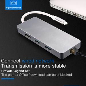 Image 3 - USB C Type C To HDMI Adapter thunderbolt 3 RJ45 Adapter USB 3.0 HUB for MacBook Samsung S8/S9 Huawei P20 Pro usb c adapter