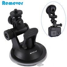 New Arrival Car Suction for Gopro Hero 3 3+ 4 5 6 SJcam Xiaoyi Action Cameras Portable Base Stand Bracket with Holder Phones