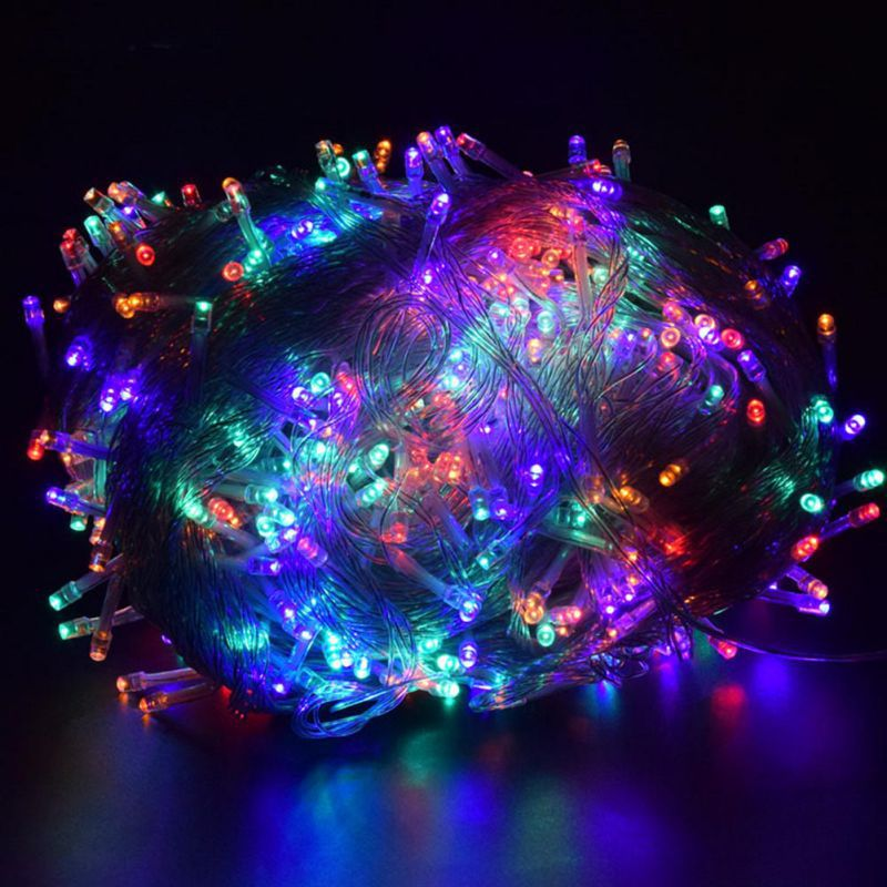 Christmas Lights 5M 10M 20M 30M LED String Fairy Light Mix-color Christmas Lights For Wedding Party Holiday Lights Decor