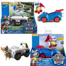 Genuína pata patrulha brinquedo carro apollo, rastreador tem caixas ryder skye scroll figura de ação anime, figura, modelo, brinquedo pvc para presente das crianças