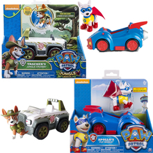 Genuine Paw Patrol Toy Car Apollo Tracker Have Boxs Ryder Skye Scroll Action Figure Anime Figure Model PVC Toy for Children Gift
