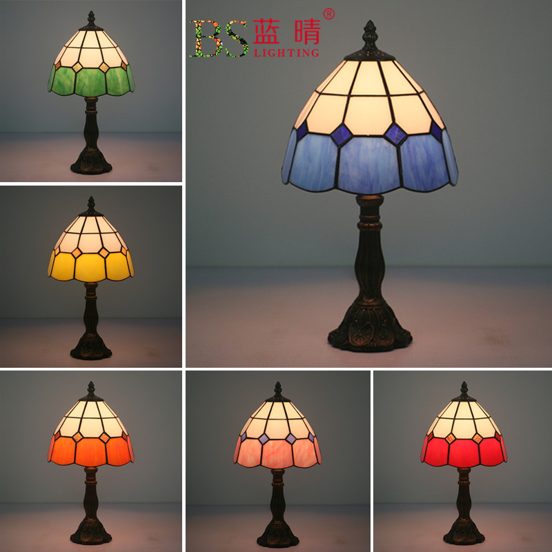 Design de moda Turca Mosaico Lâmpadas E27 Lampsahde Artesanal Base de Vidro Quarto Luminárias de Cabeceira Candeeiro de Mesa Do Vintage