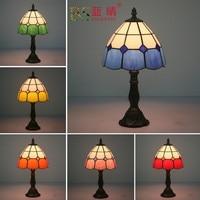 Fashion Design Turkse Mozaïek Lampen E27 Base Handgemaakte Glazen Lampsahde Slaapkamer Nachtkastje Vintage Tafellamp Verlichtingsarmaturen