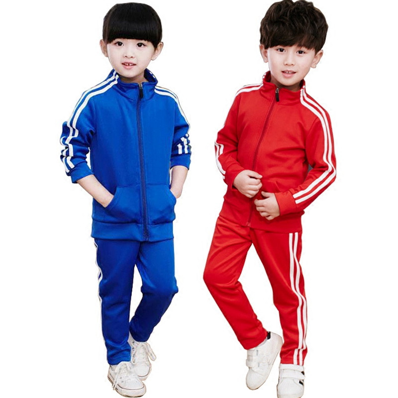 Brand Kids Boys Girls Casual Sport Suits Children Tracksuit Toddler Stripes Long Sleeve Clothes Sets Child School Clothing 2pcs long sleeve children s sports suits boys clothing set camouflage child tracksuit clothes sets for teenage