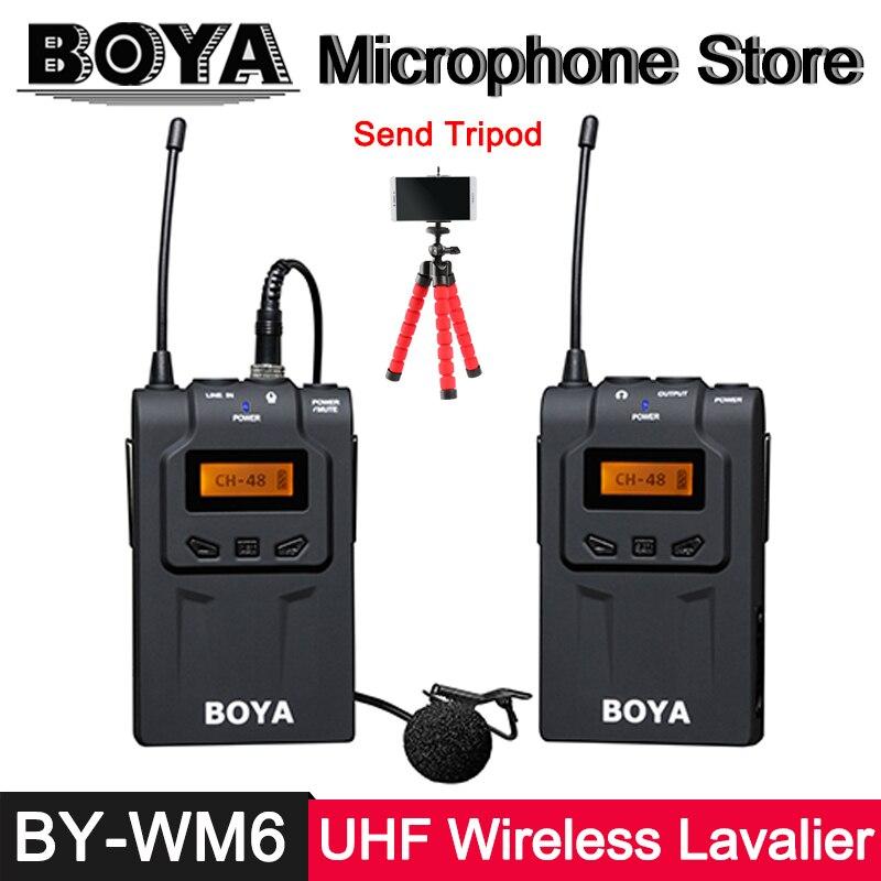 BOYA BY-WM6 Professionnel Sans Fil Micro-cravate Système Pour Canon Nikon Sony Panasonic Caméra Caméscope Vidéo D'enregistrement Mic