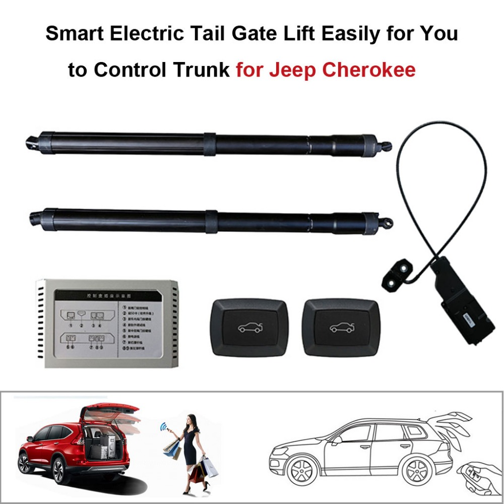 Smart Auto Electric Tail Gate Lift For Jeep Cherokee Control Set Height Avoid Pinch