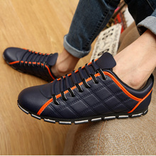 Summer Men Flats Leather Loafers Male Black Driving Casual Shoes Mens Comfortable Lace Up Chaussure Homme Size 38-45