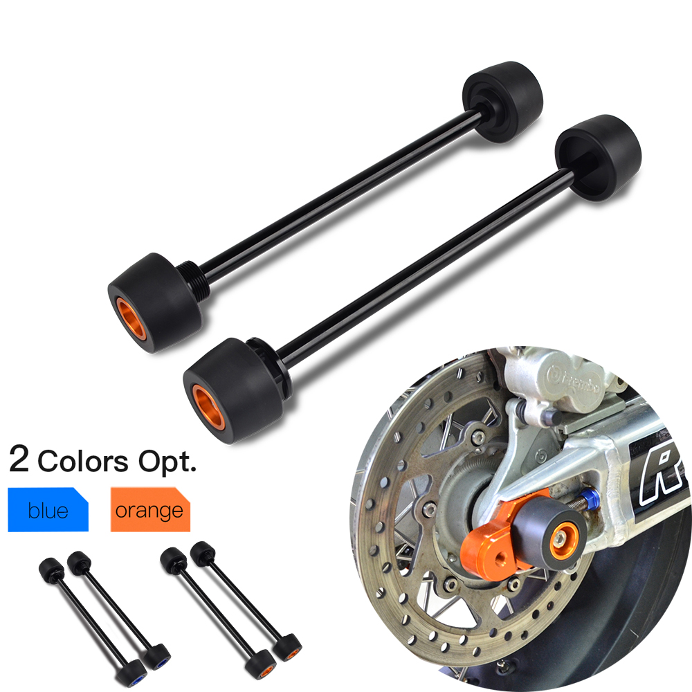 Front Rear Axle Fork Wheel Slider Falling Protector For KTM 690 Duke R Supermoto SMC For Husqvarna Vitpilen 701 Crash Pad-in Falling Protection from Automobiles & Motorcycles