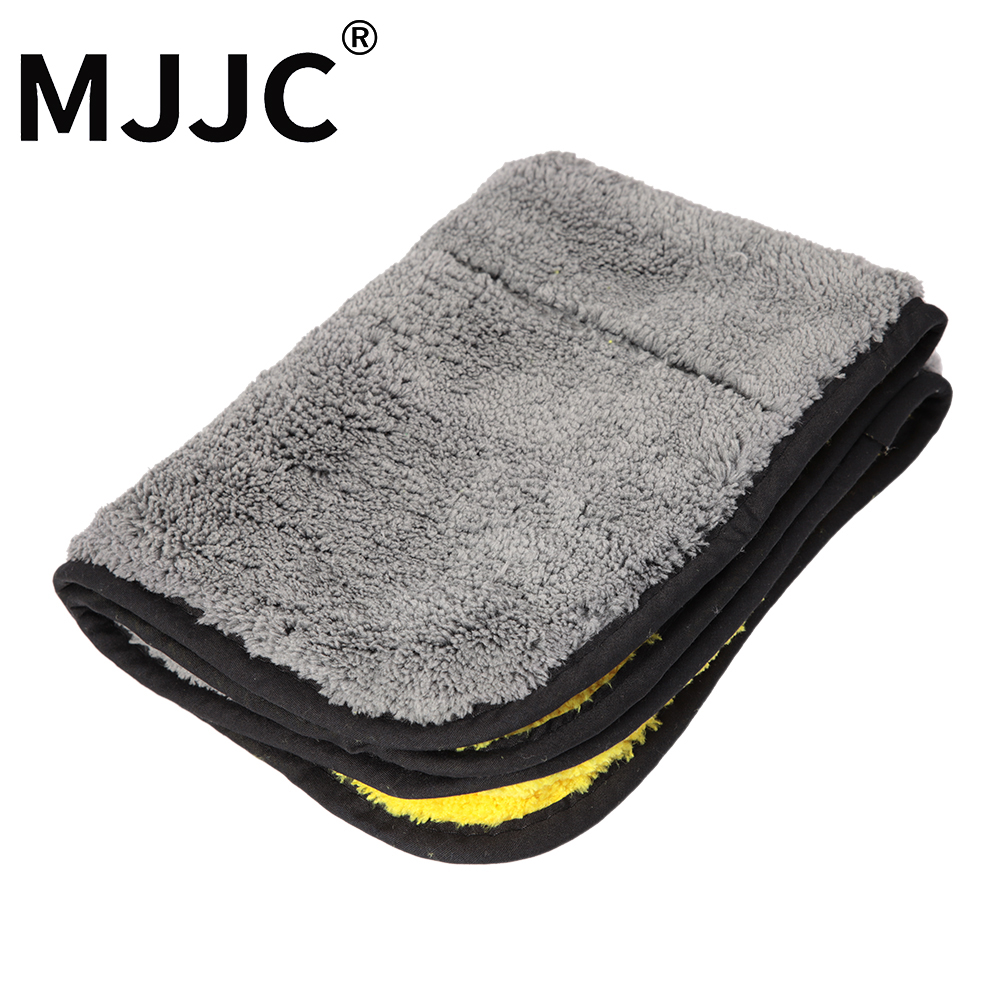 MJJC 2018 High Quality 800gsm - 900gsm Plush Drying Microfiber Towel double sides 30x35cm Car Cleaning Towel mjjc soft car cleaning glove standard double sides chenille microfiber wash mitt valeting mitt chenille car body window