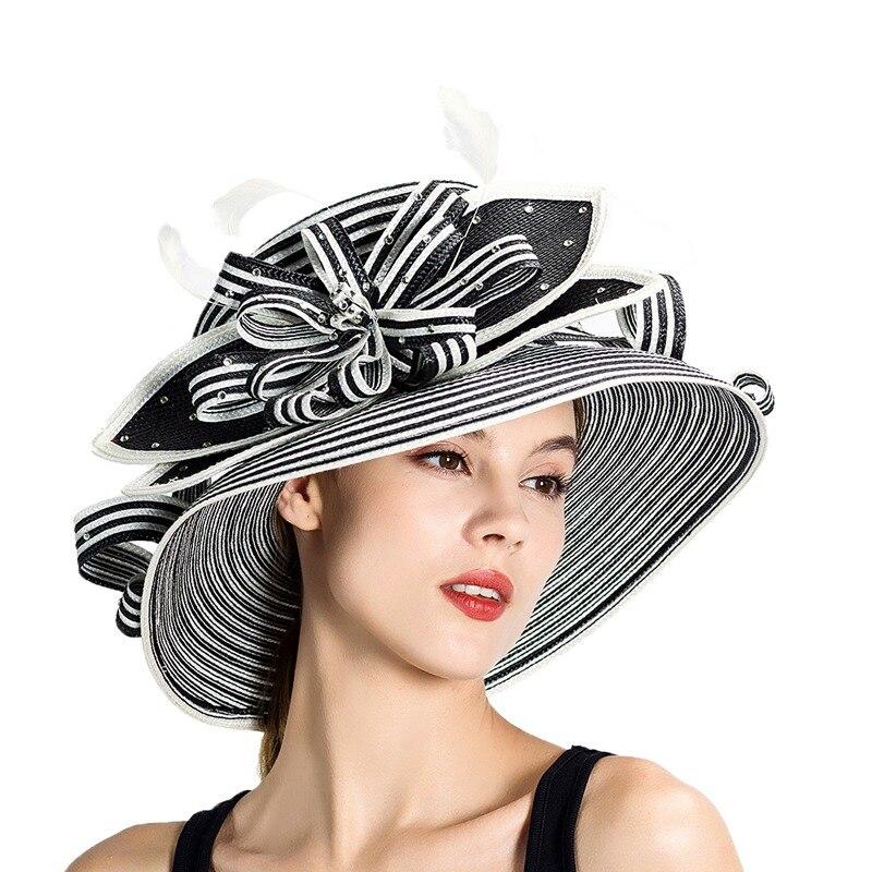 28059f44ecc76 Wedding Kentucky Derby Church Downton Abbey Feather Braided Hat Fancy Hat  Races Hat S10-3704