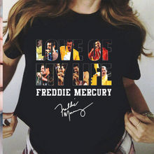 Freddie Mercury Love Of My Life Signature T Shirt Black Cotton S 3Xl
